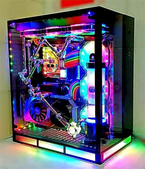 Another cool and colorful gaming rig