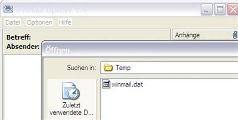 E-Mail-Anhang 'winmail