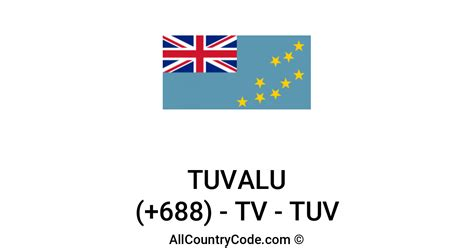 Tuvalu 688 TV Country Code (TUV)   All Country Code
