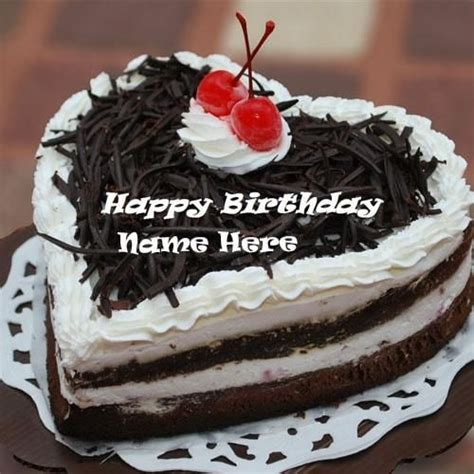 heart shaped chocolate birthday cake pictures with name