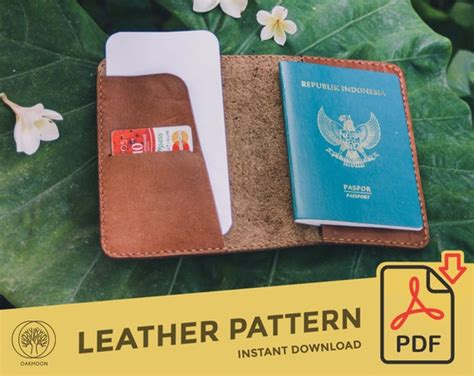 Leather Passport Holder Template Pattern PDF Leather | Etsy