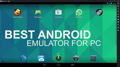The Best Free Android Emulator For PC All Time - YouTube
