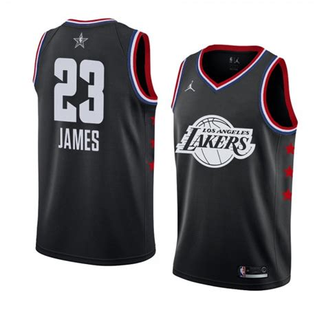Los Angeles Lakers # 23 Schwarz LeBron James 2019 All-Star