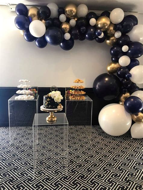 Midnight Blue Garland in 2020   Gold party decorations