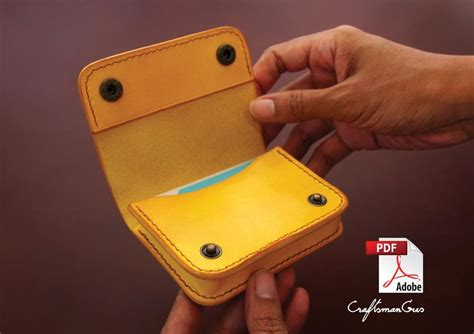 Leather Bag Pattern PDF files: Leather Card Holder with
