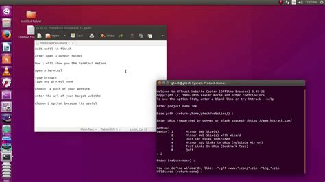 Mirror a website using httrack in linux - YouTube