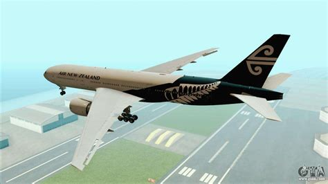 B777-200ER Air New Zealand Black Tail Livery for GTA San