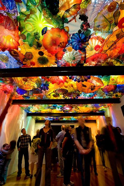 vibrantly colored hand-blown glass gardens by dale chihuly
