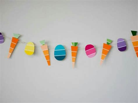 Paint strips   Easter garland, Easter diy, Easter activities