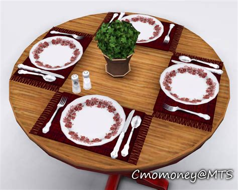 Mod The Sims - *Updated* Dining Table Clutter