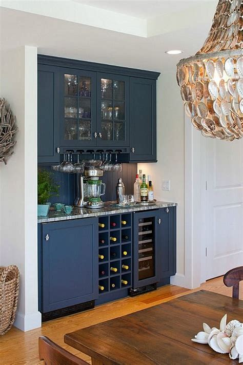 Butlers pantry style home bar built in a Cape Cod kitchen