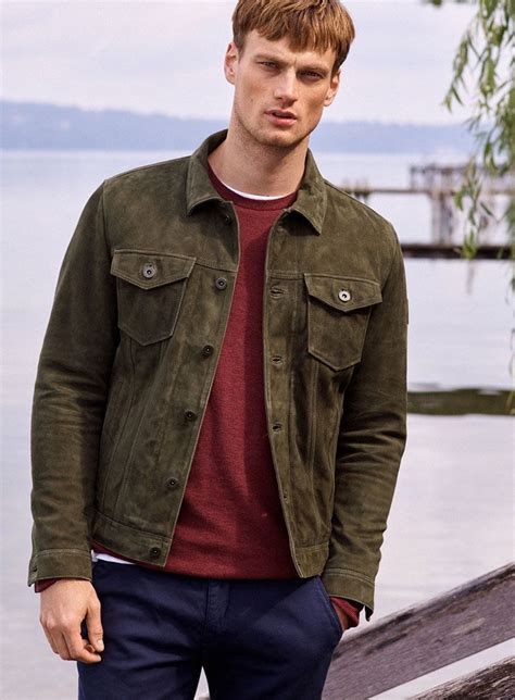 AUGUST: Color Code: The green western-style leather jacket