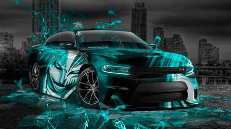 Dodge Charger RT Muscle Anime Bleach Aerography City Car
