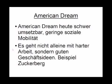 The American Dream under Donald Trump - Specialised paper