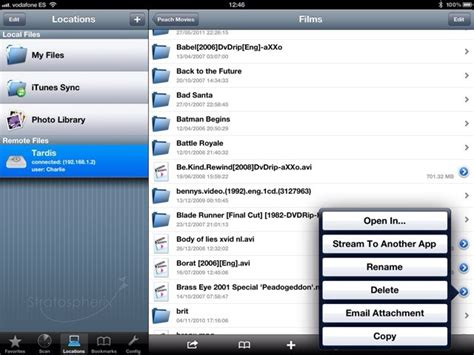 FileBrowser Streams NAS Movies To Any App On Your iPad