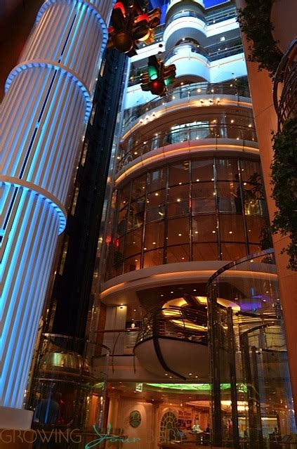 Freedom of the Seas - elevator banks - Growing Your Baby