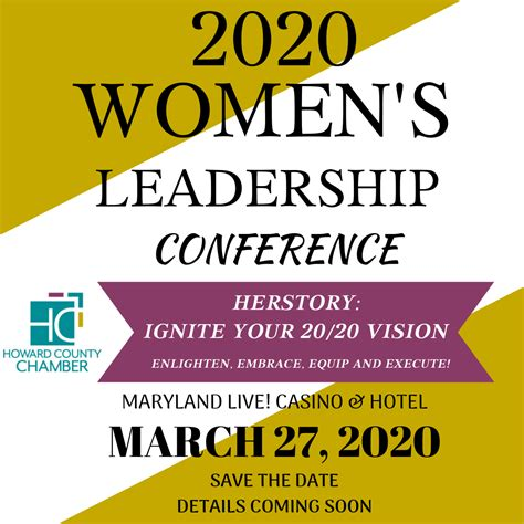 2020 Women's Leadership Conference   Howard County Chamber