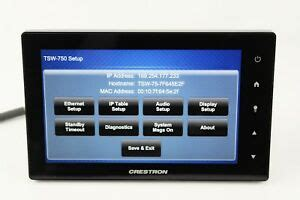 """Crestron TSW-750-B-S 7"""" Touch Panel Touch Screen Control"""